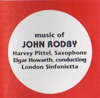 Music of John Rodby with London Sinfonietta
